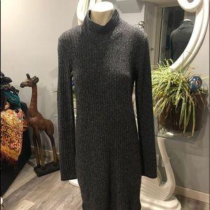 Wilfred Free grey ribbed sheath dress